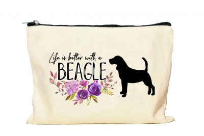 Beagle Makeup Bag