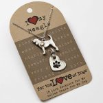 Beagle Necklace & Collar Charm Set 16 Inches 1