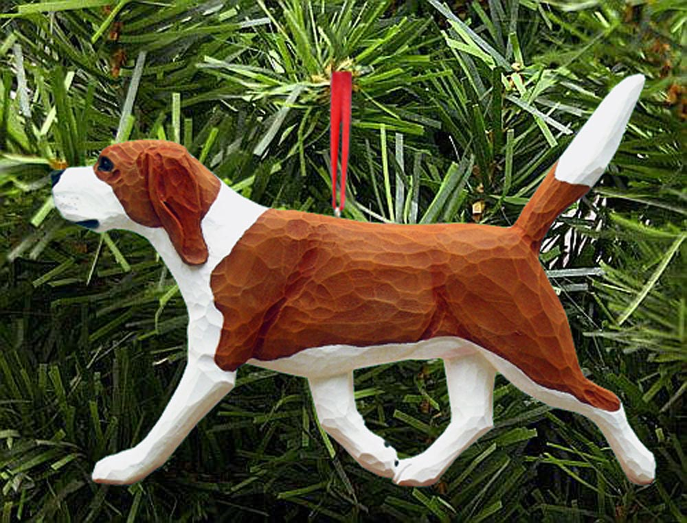 Beagle Ornament Red
