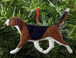 Beagle Ornament Tri