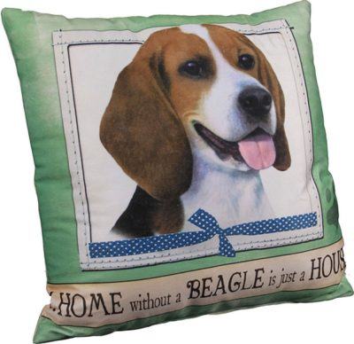 Beagle Pillow 16×16 Polyester 1
