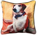 "Beagle Artistic Throw Pillow 18X18"""