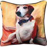 Beagle Artistic Throw Pillow 18X18″ 1