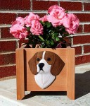 Beagle Planter Flower Pot Red