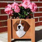 Beagle Planter Flower Pot Red 1