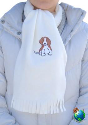 Beagle Scarf Cream Fleece