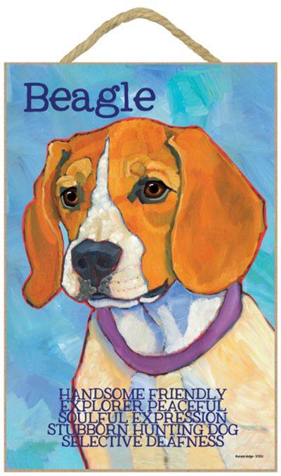Beagle Characteristics Indoor Sign