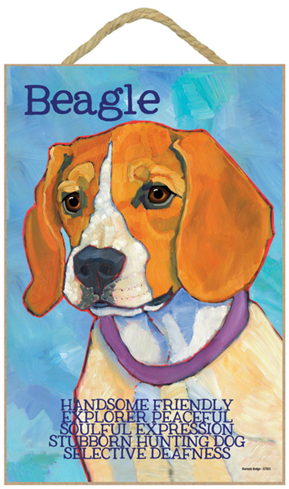 Beagle Characteristics Indoor Sign