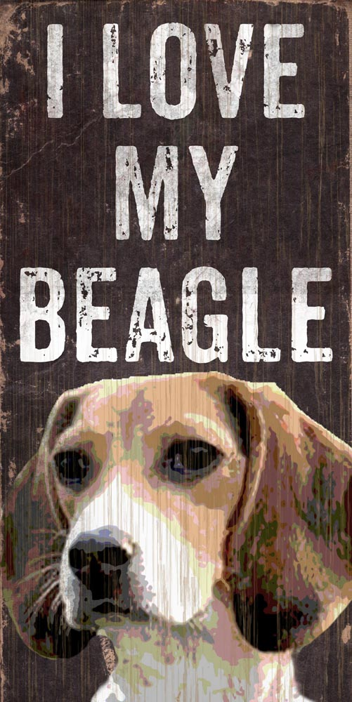 Beagle Sign - I Love My 5x10