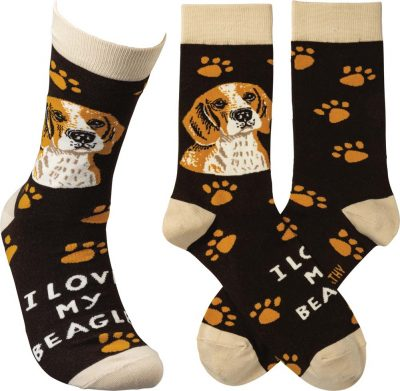I Love My Beagle Socks