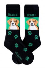 Beagle Socks Green and Black in Color