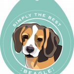 Beagle Sticker 4×4″ 1