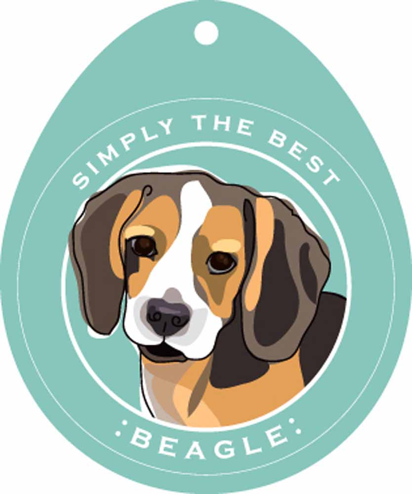 Beagle Sticker 4x4""