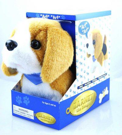 beagle-stuffed-animal-barking-dog