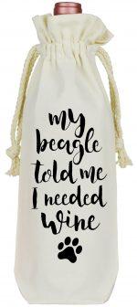 Beagle Wine Bag