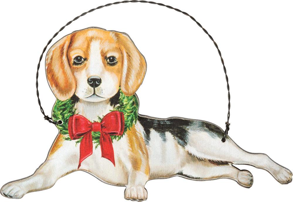 Beagle Wood Ornament