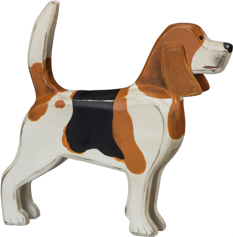 Beagle Wood Wall Plaque Figure 3 Dimensional