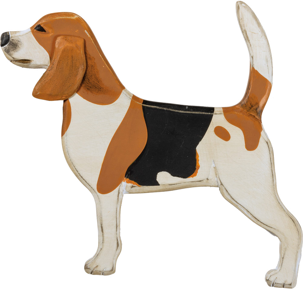 Beagle Wood Wall Plaque Figure