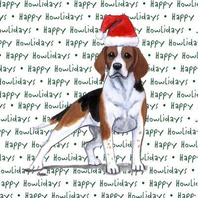 Beagle Dog Coasters Christmas Themed