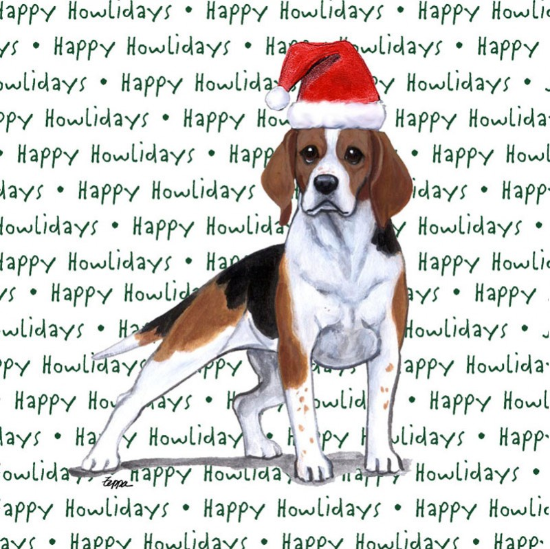 Beagle Dog Coasters Christmas Themed