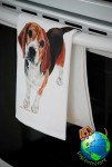 Beagle Kitchen Hand Towel