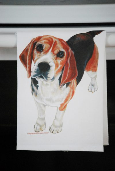 Beagle Kitchen Hand Towel 2