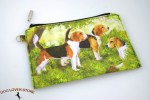 Beagle Dog Bag Zippered Pouch Travel Makeup Coin Purse
