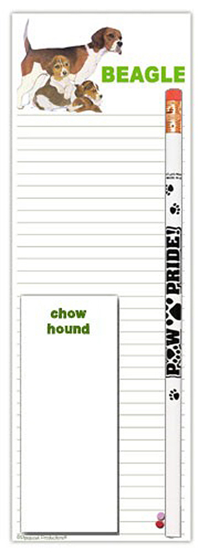 Beagle Dog Notepads To Do List Pad Pencil Gift Set
