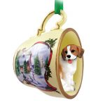 Beagle Dog Christmas Holiday Teacup Ornament Figurine 1