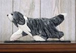 bearded-collie-figurine-plaque-blue