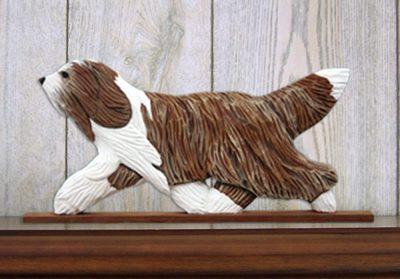 bearded-collie-figurine-plaque-brown