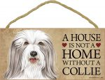 Bearded Collie Wood Dog Sign Wall Plaque Photo Display 5 x 10 + Bonus Coaster