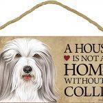 Bearded Collie Wood Dog Sign Wall Plaque Photo Display 5 x 10 + Bonus Coaster 1
