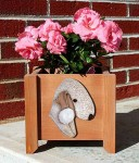 Bedlington Terrier Planter Flower Pot Liver