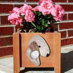Bedlington Terrier Planter Flower Pot Liver 1