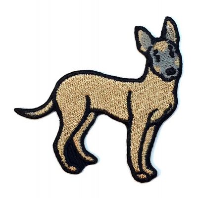 Belgian Malinoise Iron on Embroidered Patch