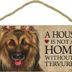 Belgian Tervuren Indoor Dog Breed Sign Plaque – A House Is Not A Home + Bonus Coaster 1