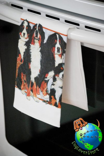 Bernese Mountain Dog Kitchen Hand Towel 1