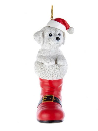 Bichon Boot Ornament