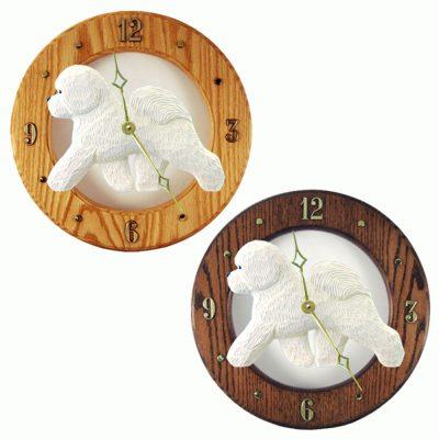 bichon-frise-clock