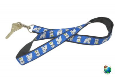 Bichon Frise Lanyard Key Holder Badge Holder
