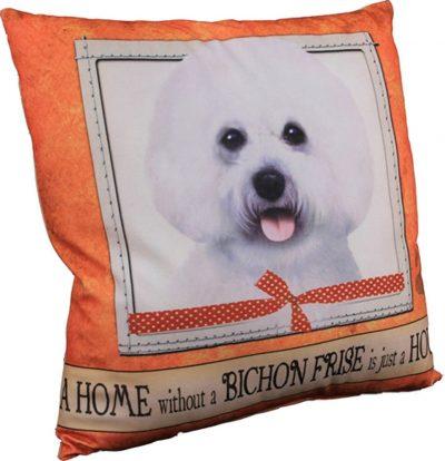 Bichon Frise Pillow 16×16 Polyester 1