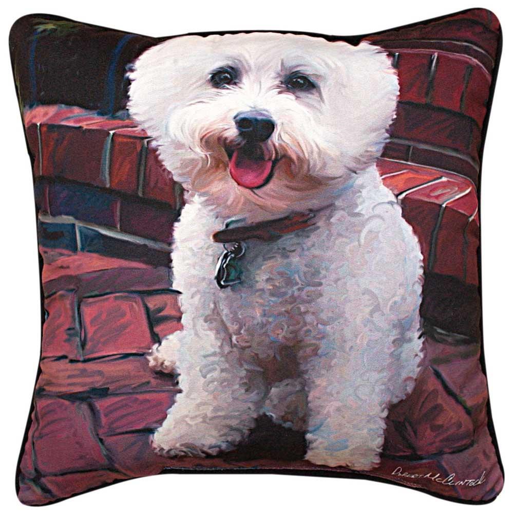 "Bichon Frise Artistic Throw Pillow 18X18"""