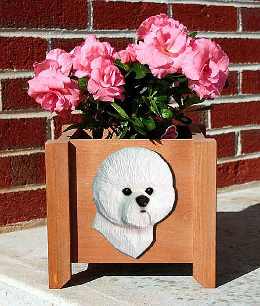Bichon Frise Planter Flower Pot