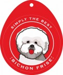 Bichon Frise Sticker 4x4""