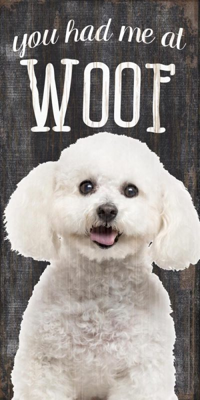 Bichon Frise Sign – You Had me at WOOF 5×10 1