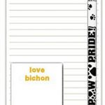 Bichon Frise Dog Notepads To Do List Pad Pencil Gift Set 1