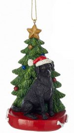 Black Lab Christmas Tree Ornament