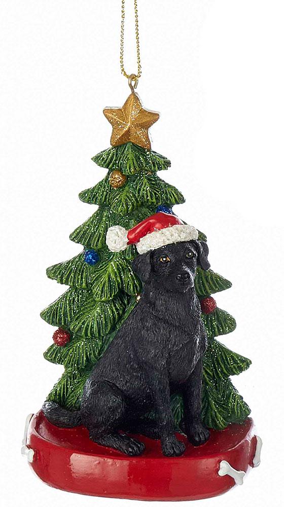 Black Lab Christmas Tree Ornament