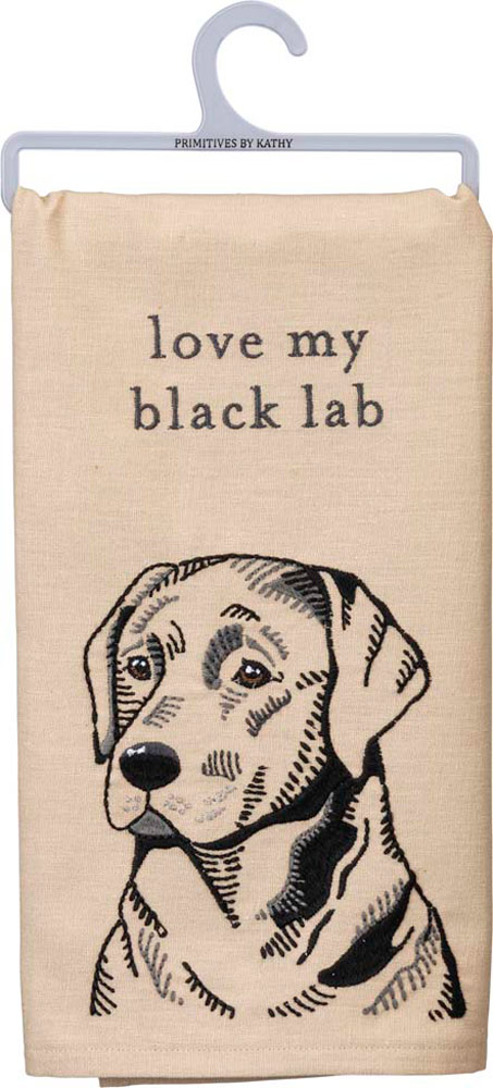 Black Lab Kitchen Dish Towel By Kathy